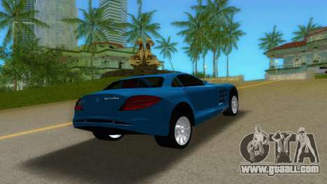 Mercedes-Benz SLR McLaren for GTA Vice City inner view