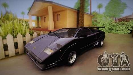 Lamborghini Countach 25th Anniversary for GTA San Andreas back view
