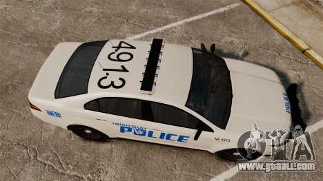 GTA V Vapid Police Interceptor LCPD [ELS] for GTA 4 right view