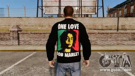 Sweater-Bob Marley- for GTA 4 second screenshot
