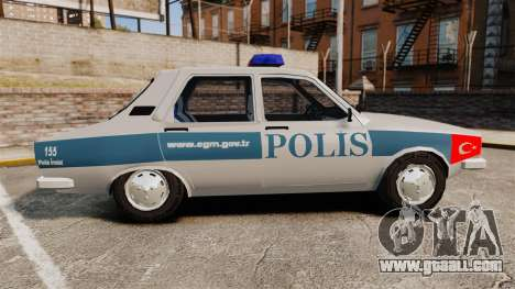 Renault 12 Turkish Police for GTA 4 left view