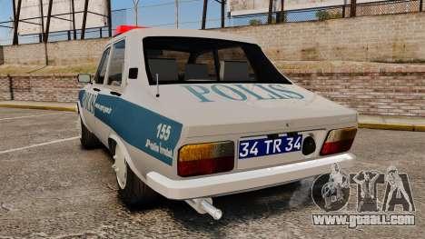 Renault 12 Turkish Police for GTA 4 back left view