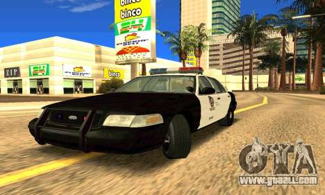Ford Crown Victoria Police LV for GTA San Andreas left view