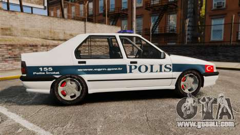 Renault 19 Turkish Police for GTA 4 left view