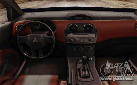 Mitsubishi Eclipse GT v2 for GTA San Andreas right view