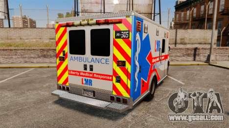 Brute Liberty Ambulance [ELS] for GTA 4 back left view