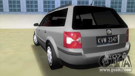 Volkswagen Passat B5+ Variant 1.9 TDi for GTA Vice City back left view