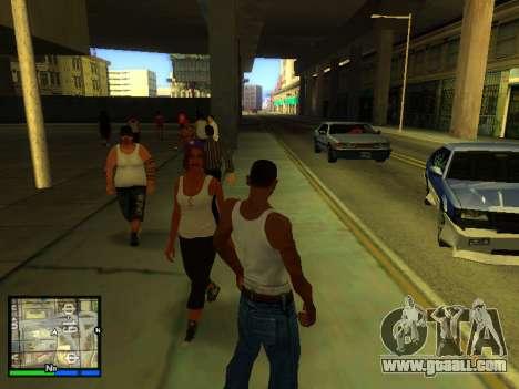 Pak skins girls for GTA San Andreas eighth screenshot