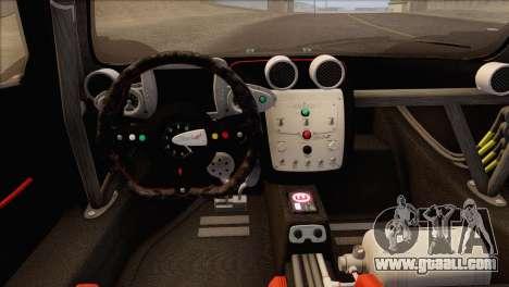 Pagani Zonda R SPS v3.0 Final for GTA San Andreas inner view