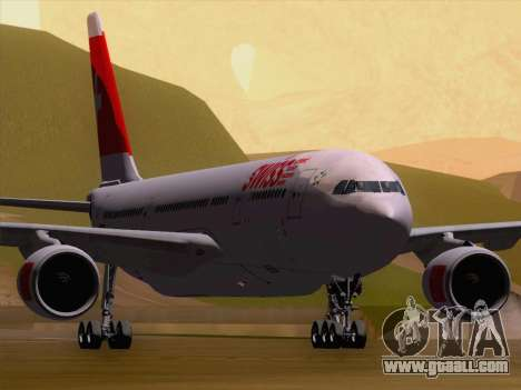 Airbus A330-223 Swiss International Airlines for GTA San Andreas left view
