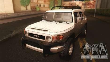 Toyota FJ Cruiser 2012 for GTA San Andreas inner view