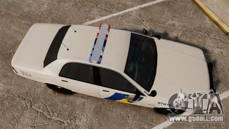 GTA V Vapid State Police Cruiser [ELS] for GTA 4 right view