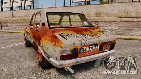 Renault 12 Toros v2.0 Rusty for GTA 4 back left view