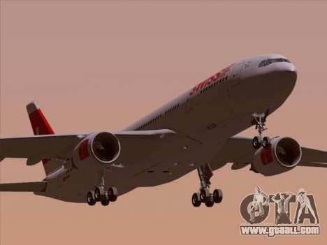 Airbus A330-223 Swiss International Airlines for GTA San Andreas upper view