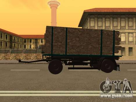 Trailer for MAZ 6430 for GTA San Andreas left view