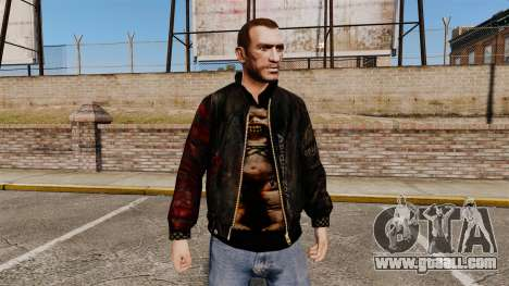 Black jacket made of recycled leather for GTA 4