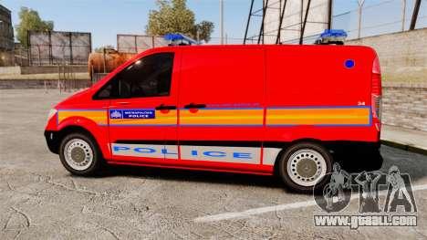 Mercedes-Benz Vito Metropolitan Police [ELS] for GTA 4 left view