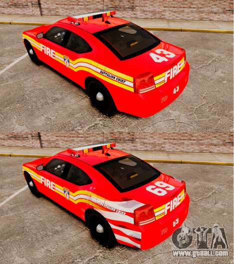Dodge Charger LCFD Battalion Chief [ELS] for GTA 4 back view