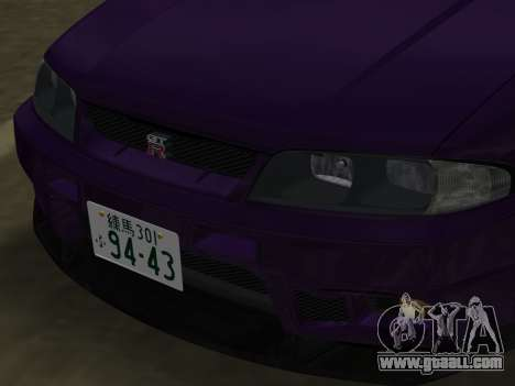 Nissan SKyline GT-R BNR33 for GTA Vice City side view
