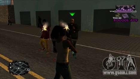 Ballas C-HUD for GTA San Andreas second screenshot