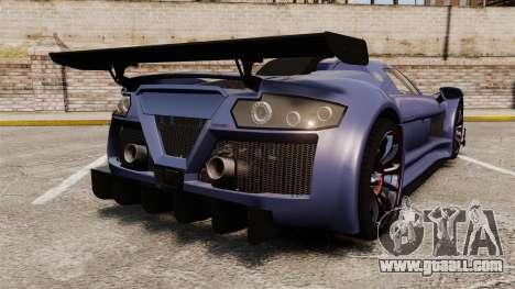 Gumpert Apollo S 2011 for GTA 4 back left view