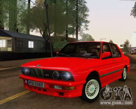 BMW M5 E28 for GTA San Andreas inner view