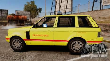 Range Rover Vogue Brannvesenet for GTA 4 left view