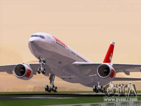 Airbus A330-223 Swiss International Airlines for GTA San Andreas side view