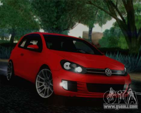 Volkswagen Golf Mk6 for GTA San Andreas
