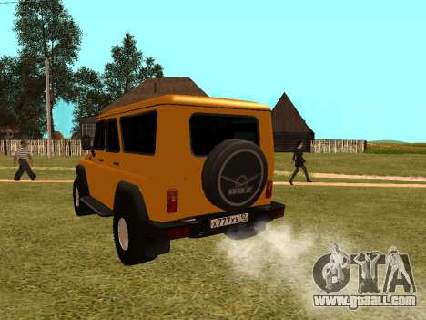 UAZ-3159 Bars for GTA San Andreas back left view