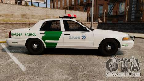 Ford Crown Victoria 1999 U.S. Border Patrol for GTA 4 left view