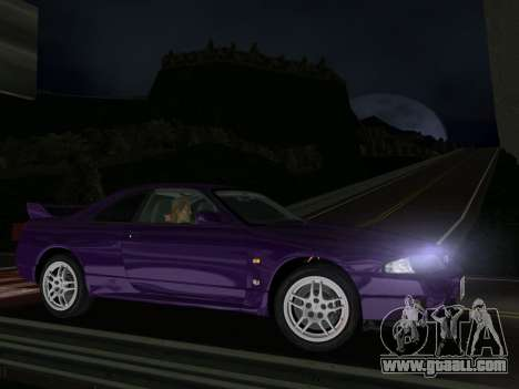 Nissan SKyline GT-R BNR33 for GTA Vice City left view