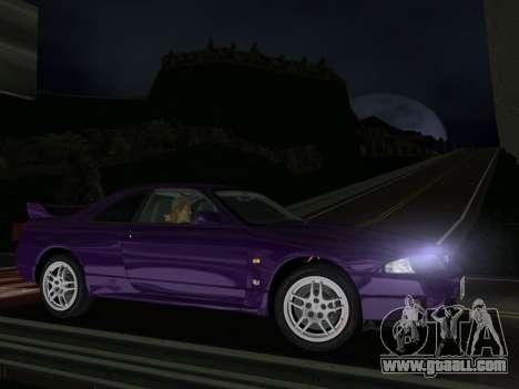 Nissan SKyline GT-R BNR33 for GTA Vice City left view