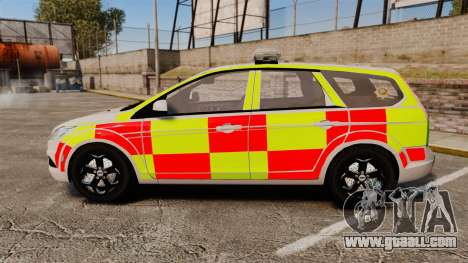 Ford Focus Estate 2009 Fire Car England [ELS] for GTA 4 left view