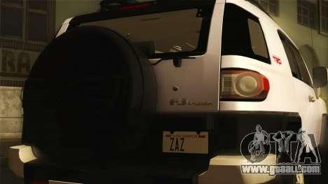Toyota FJ Cruiser 2012 for GTA San Andreas back left view