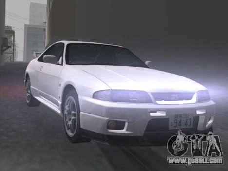 Nissan SKyline GT-R BNR33 for GTA Vice City bottom view