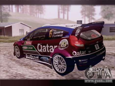 Ford Fiesta RS WRC 2013 for GTA San Andreas left view