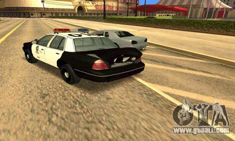 Ford Crown Victoria Police LV for GTA San Andreas upper view