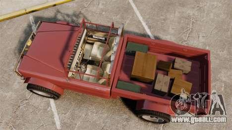GTA V Canis Bodhi (Trevor Car) for GTA 4 right view