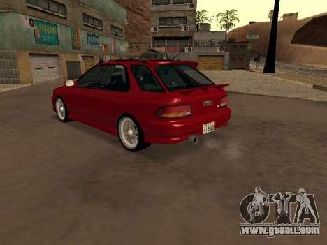 Subaru Impreza Wagon for GTA San Andreas back left view