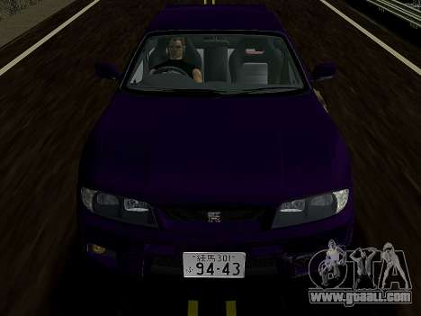 Nissan SKyline GT-R BNR33 for GTA Vice City back left view
