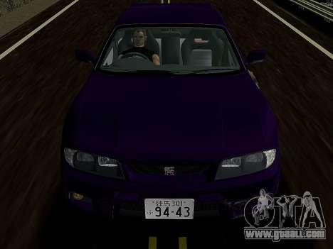 Nissan SKyline GT-R BNR33 for GTA Vice City back left view
