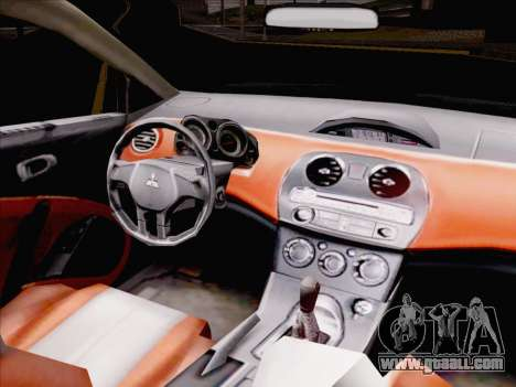 Mitsubishi Eclipse v4 for GTA San Andreas inner view