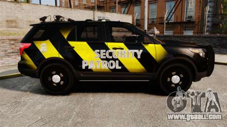 Ford Explorer 2013 Security Patrol [ELS] for GTA 4 left view