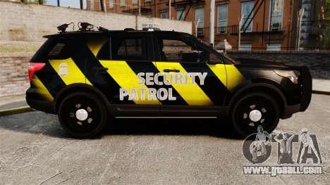 Ford Explorer 2013 Security Patrol [ELS] for GTA 4 left view