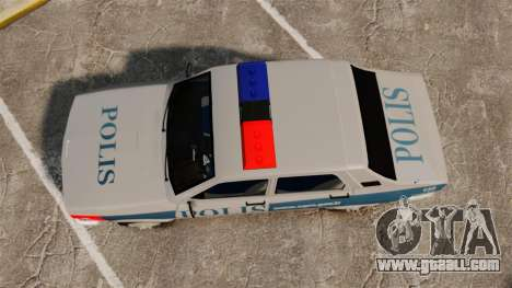 Renault 12 Turkish Police for GTA 4 right view