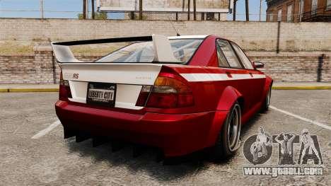 Sultan RS Sedan for GTA 4 back left view