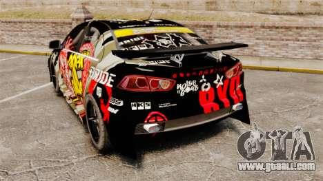 Mitsubishi Lancer Evolution X Ryo King for GTA 4 back left view