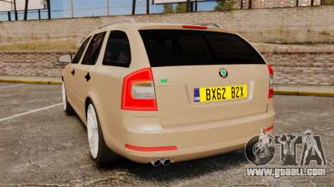 Skoda Octavia RS Stock for GTA 4 back left view