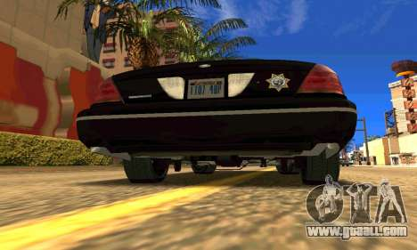 Ford Crown Victoria Police LV for GTA San Andreas back left view